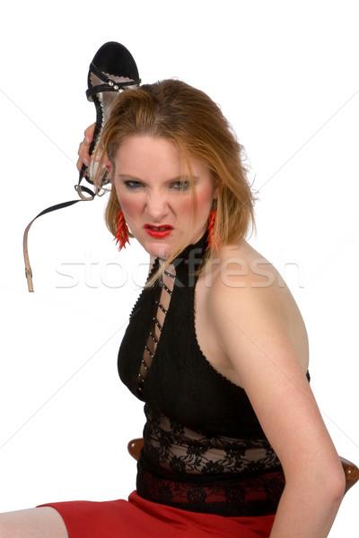 Angry woman Stock photo © gsermek