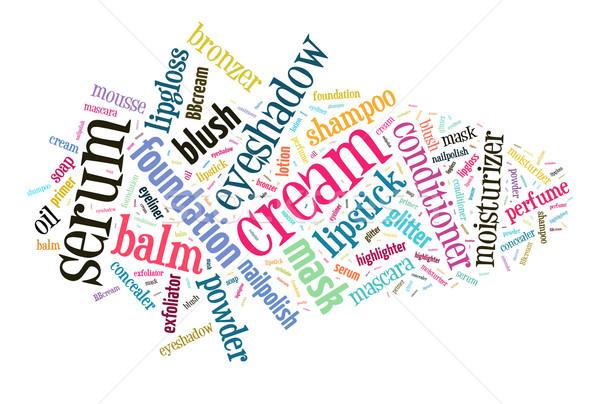 Beauty products word cloud Stock photo © gsermek