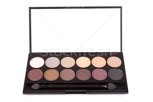 Colorful eyeshadow palette, isolated on white Stock photo © gsermek