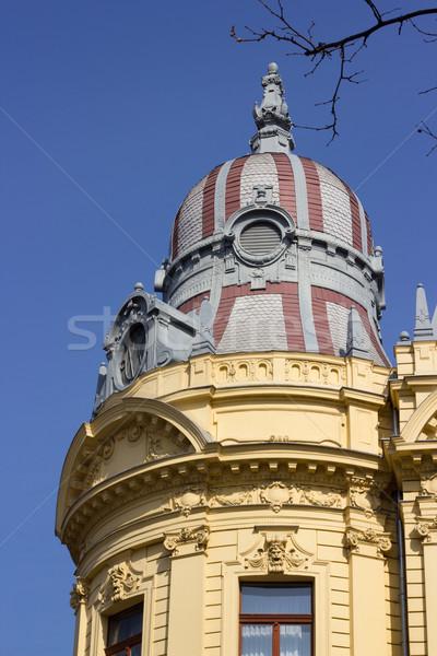 Edificio techo Zagreb Croacia casa ciudad Foto stock © gsermek