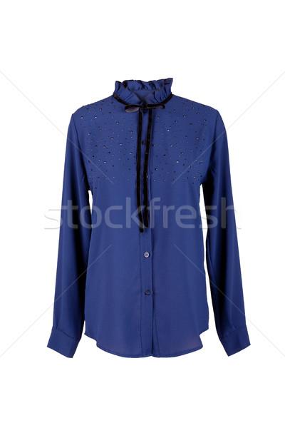 Mavi bluz yalıtılmış beyaz moda dizayn Stok fotoğraf © gsermek