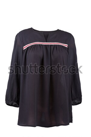Black linen blouse, isolated on white Stock photo © gsermek