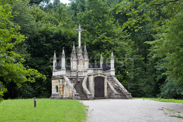 The Jelacic family vault in neo-Gothic style Stock photo © gsermek