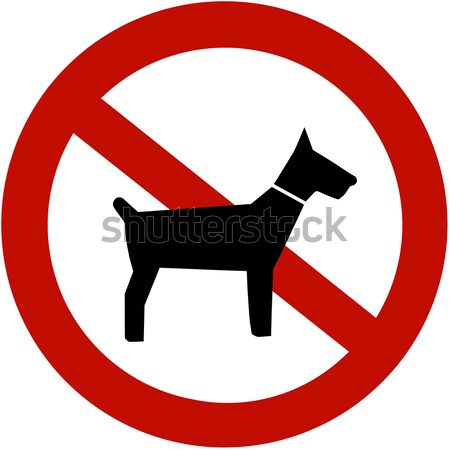 Stock photo: No dogs allowed (illustration sign)