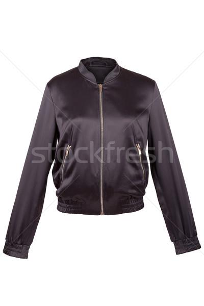 Preto cetim jaqueta isolado branco moda Foto stock © gsermek
