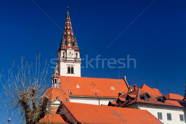 Szentély szent Horvátország 40 km Zágráb Stock fotó © gsermek