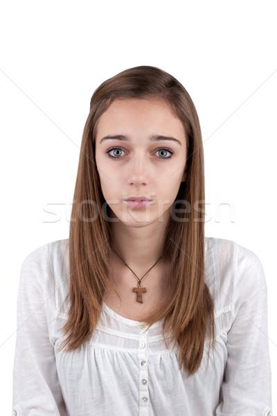 肖像 小さな 十代の少女 写真 イド 少女 ストックフォト © gsermek