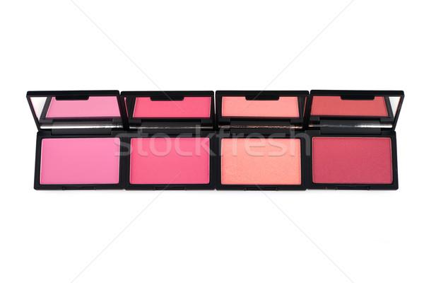Blush palettes isolated on white Stock photo © gsermek