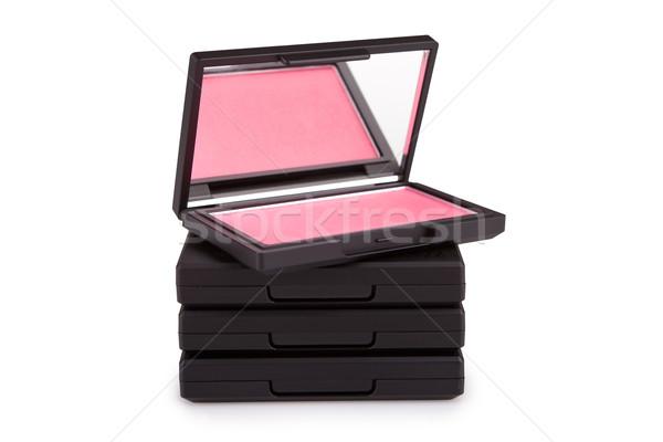 Rózsaszín bőrpír köteg dobozok izolált fehér Stock fotó © gsermek