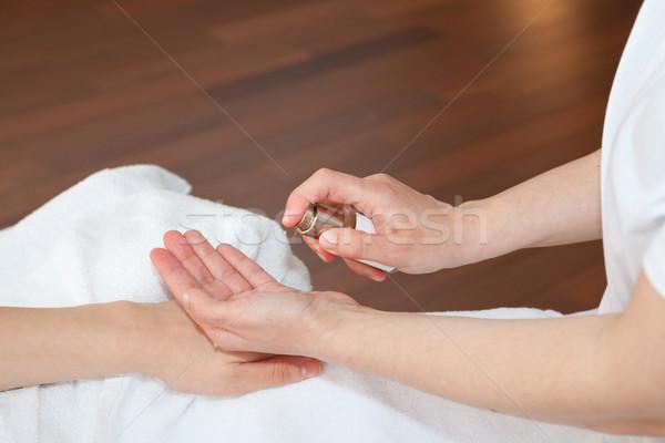 Hand massage Stock photo © gsermek