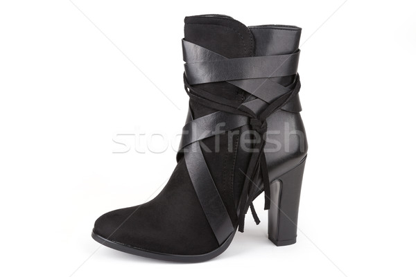 Black ankle boot  Stock photo © gsermek