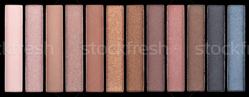 Coloré fard à paupières palette oeil fond beauté Photo stock © gsermek