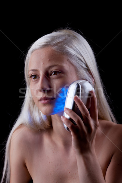 лечение кожи синий свет Сток-фото © gsermek