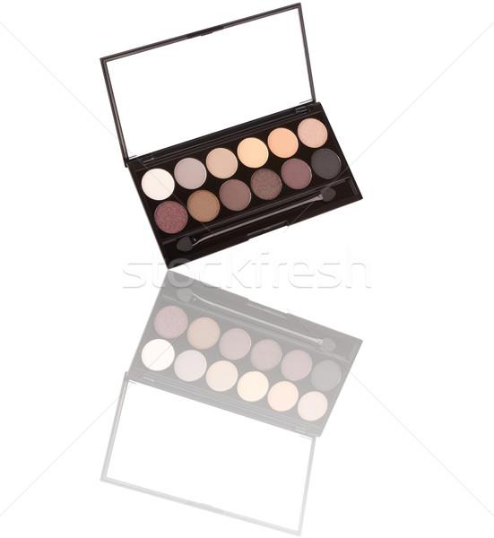 Színes szemhéjfesték paletta izolált fehér divat Stock fotó © gsermek