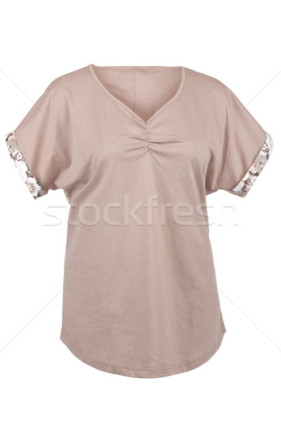 Tshirt floral imprimer isolé blanche printemps Photo stock © gsermek