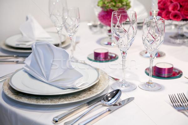 Elegant dinner party Stock photo © gsermek