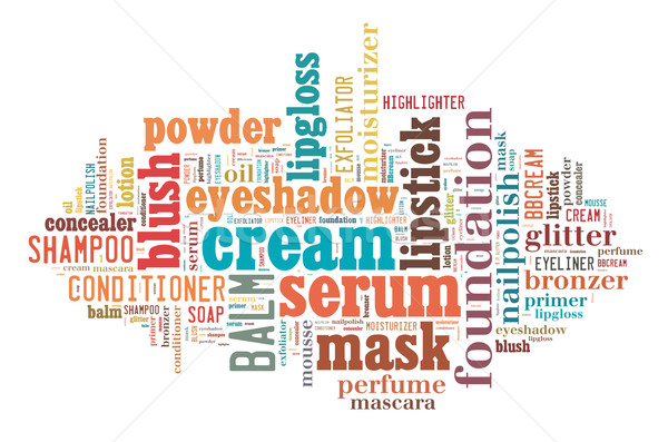 Beauty products word cloud Stock photo © gsermek