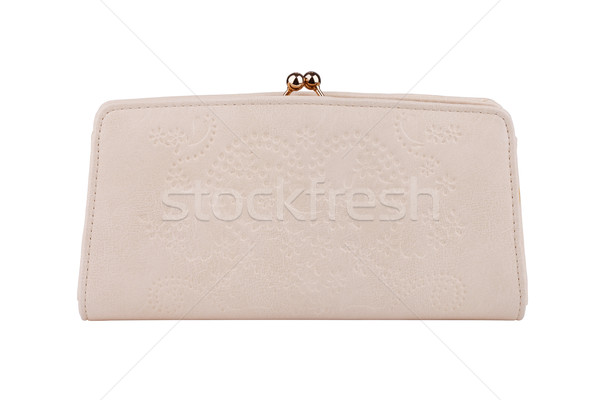 Beige purse isolated on white Stock photo © gsermek