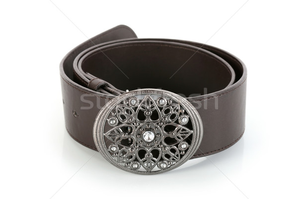 Female belt with flower shaped buckle Stock photo © gsermek