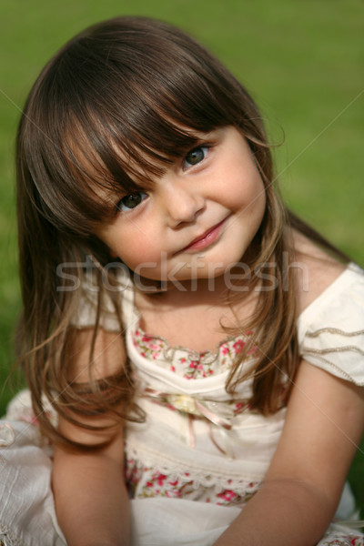 Portrait of a cute little girl  Stock photo © gsermek