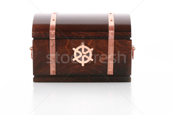 Closed wooden chest with reflection Stock photo © gsermek