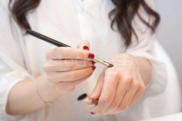 メーキャップアーチスト 新しい 化粧 手 ファッション 髪 ストックフォト © gsermek