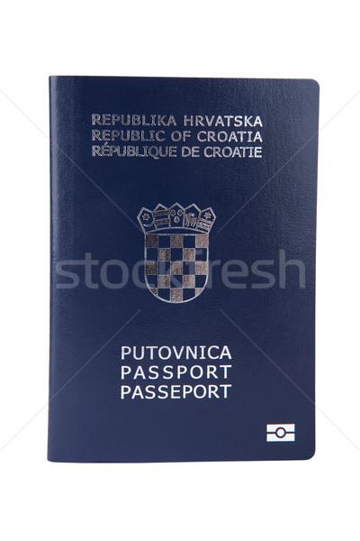 Croatian passport isolated on white Stock photo © gsermek