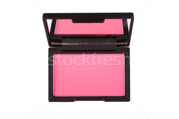Rózsaszín bőrpír izolált fehér arc szépség Stock fotó © gsermek