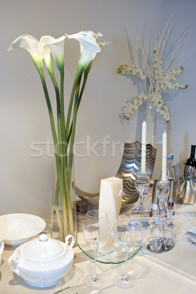 Wedding table decorated with calla lily bouquet  Stock photo © gsermek