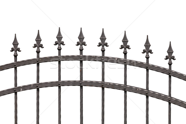 Old fashioned spike fence Stock photo © gsermek