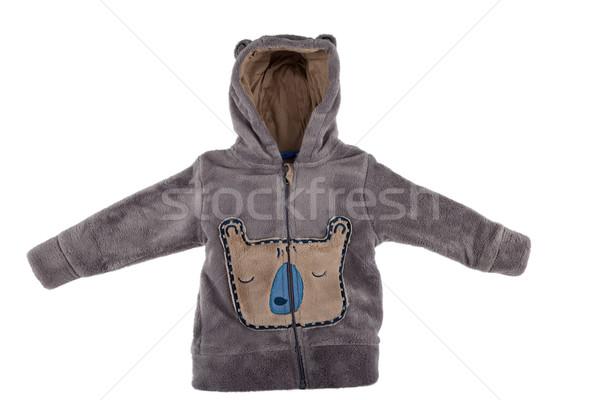 Belirsiz oyuncak ceket yalıtılmış beyaz doku Stok fotoğraf © gsermek