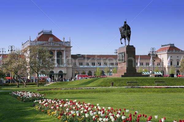 Central estación de ferrocarril Zagreb Croacia Europa flor Foto stock © gsermek