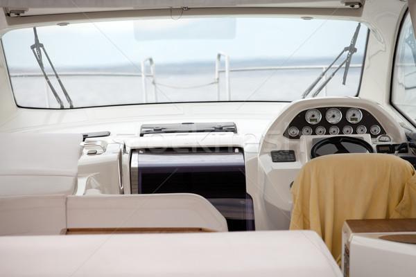 Powerboat interior Stock photo © gsermek