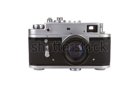 Vecchio manuale fotocamera bianco film nero Foto d'archivio © gsermek