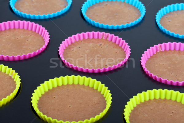 Préparation chocolat muffins vue peu profond Photo stock © gsermek