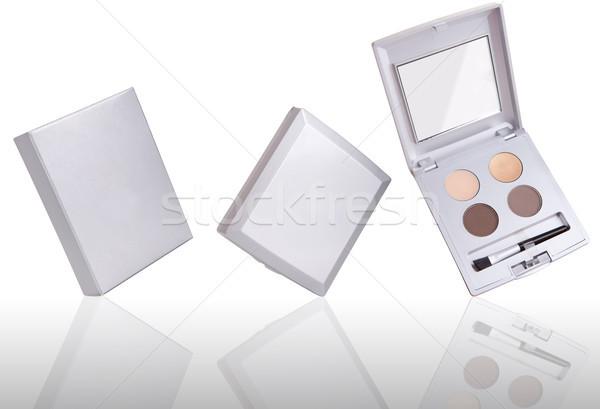 Szemhéjfesték paletta tükröződés izolált fehér szem Stock fotó © gsermek