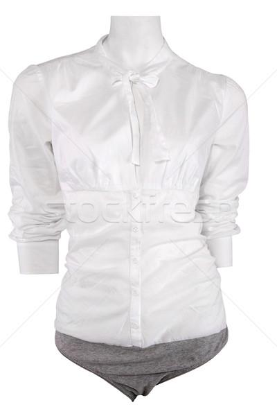 White female shirt on mannequin Stock photo © gsermek