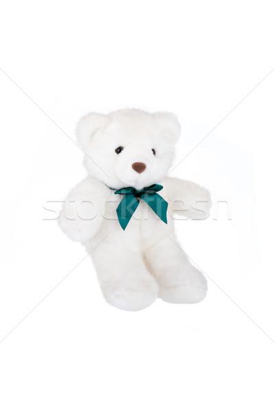Polair teddybeer geïsoleerd witte zijaanzicht gelukkig Stockfoto © gsermek