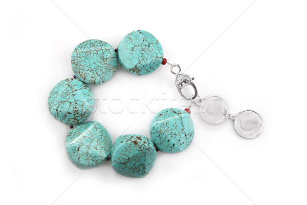 Female turquoise bracelet  Stock photo © gsermek