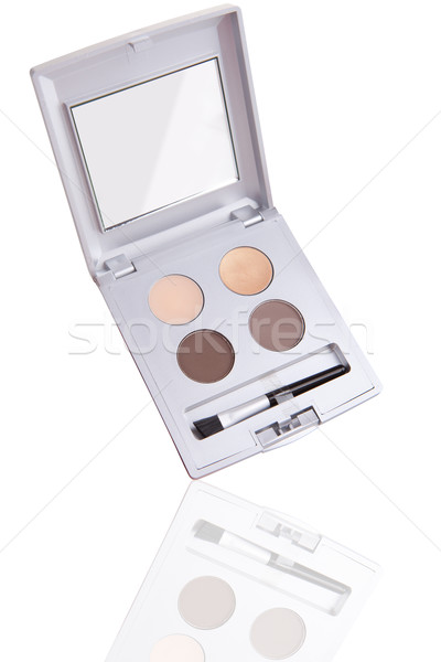 Eyeshadow palette with reflection isolated on white Stock photo © gsermek