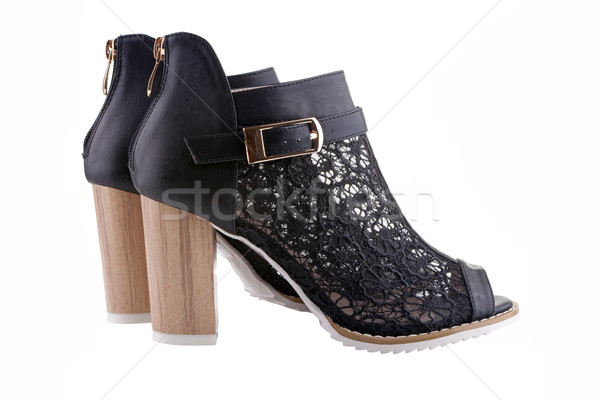 Female shoes with black lace Stock photo © gsermek