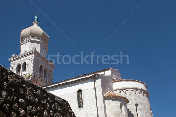 Church in Krk, Croatia Stock photo © gsermek
