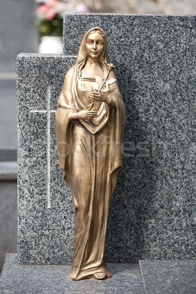 Golden statue of Virgin Mary Stock photo © gsermek