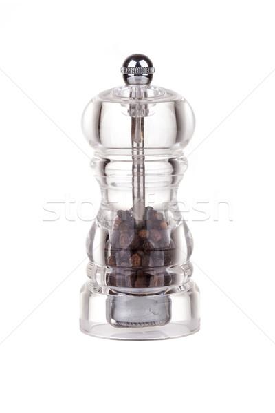 Pepper grinder made of glass Stock photo © gsermek
