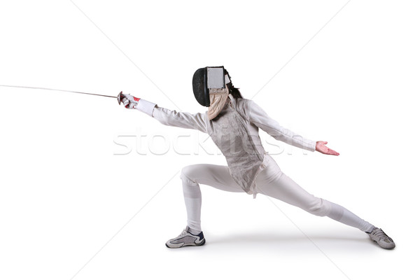 Female fencer Stock photo © gsermek