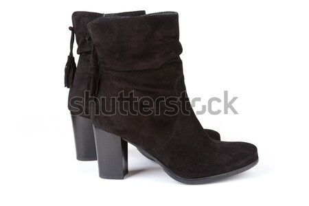 Black ankle boots Stock photo © gsermek