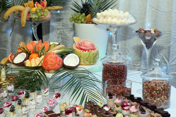 Tropical fruit served on a banquet Stock photo © gsermek