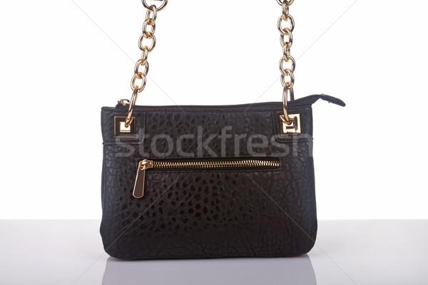 Vrouwelijke portemonnee textuur vrouwen achtergrond weefsel Stockfoto © gsermek