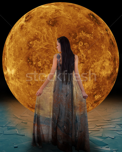 Ice fairy in front of a Venus Stock photo © gsermek