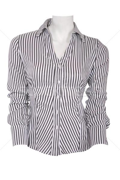 Stripped female blouse Stock photo © gsermek